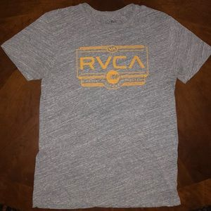 RVCA artist series graphic T-shirt heather grey